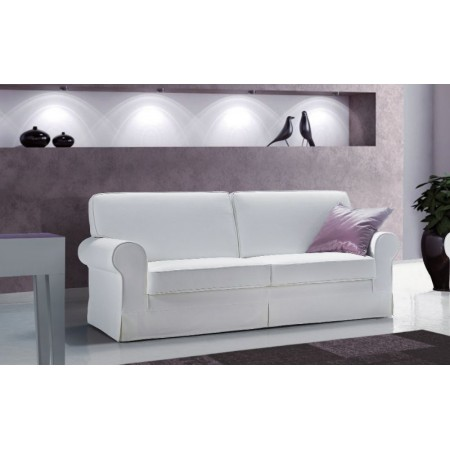 Gardenia sofa structure in solid fir wood, removable velvet