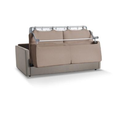 Canapé convertible Margot, structure en acier haute résistance, revêtement velours, déhoussable