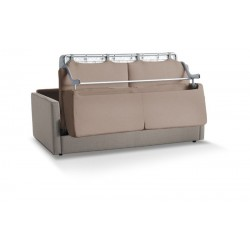 Margot sofa bed, high resistance steel structure, velvet covering, removable cover