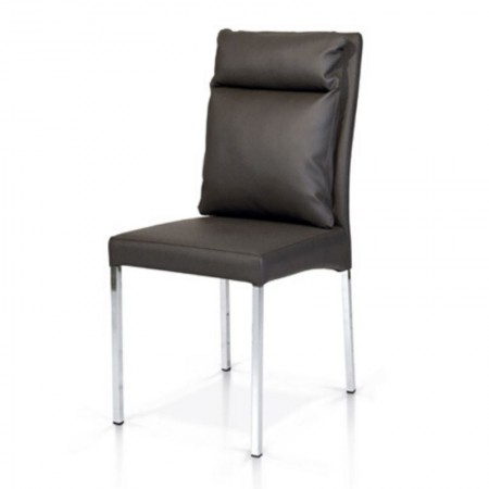 Oppo rtunity modern chair in eco-leather, metal frame, x 4 pcs