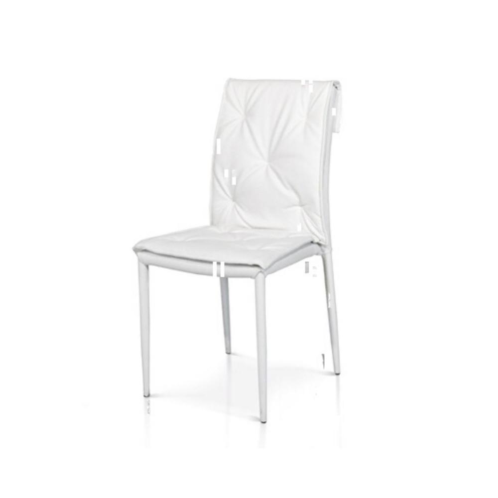 Chaise moderne Marvel en éco-cuir,