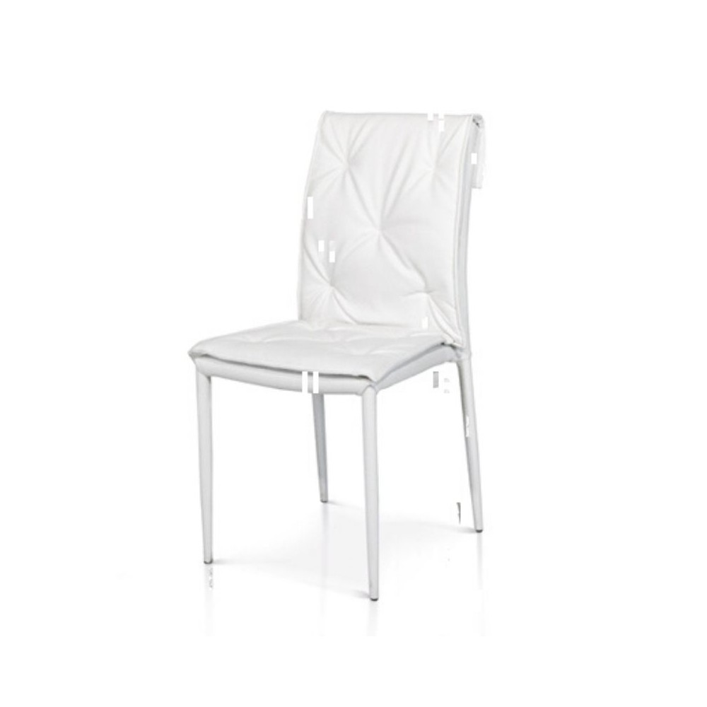 Marvel modern chair in eco-leather,