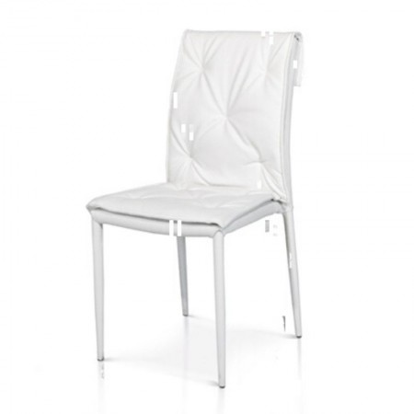 Sedia moderna Marvel in ecopelle, struttura in metallo rivestito, x 4 pz