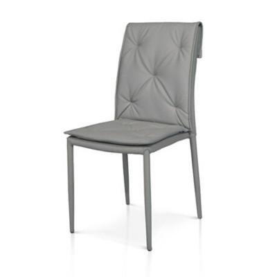 Chaise moderne Marvel en éco-cuir, structure en métal enduit, x 4 pcs