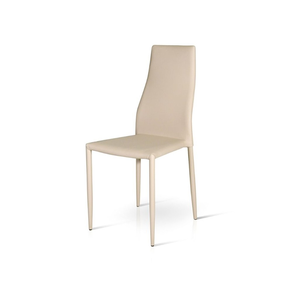 Miria chair in eco-leather, coated metal