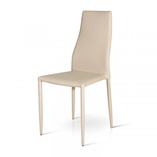 Chaise Miria en éco-cuir, structure en métal enduit, x 6 pcs