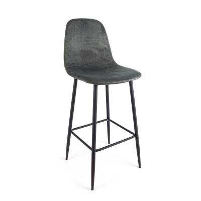 Irelia bar stool in velvet,...