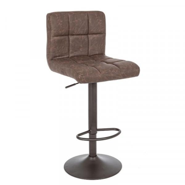 Sgabello bar Greyson rivestimento in similpelle, colore marrone vintage, x 2 pz