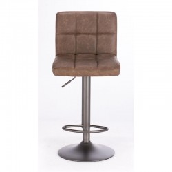 Greyson bar stool with imitation leather upholstery, vintage brown color, x 2 pcs