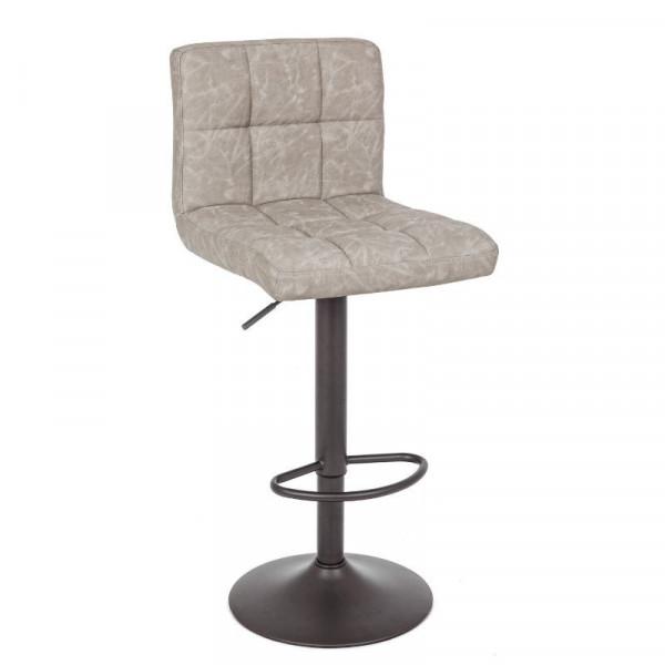 Greyson bar stool with imitation leather upholstery, vintage light gray color, x 2 pcs