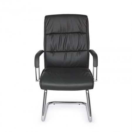 Sydney office armchair with armrests, in dark gray imitation leather, x 2 pcs