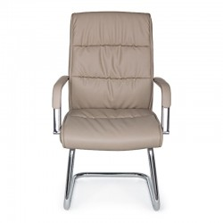 Sydney office armchair with armrests, in dove gray imitation leather, x 2 pcs