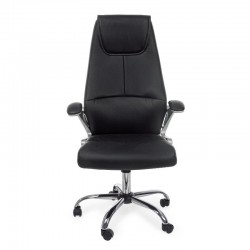 Camberra office armchair in imitation leather, black color