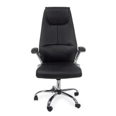 Poltrona ufficio Camberra in similpelle, colore nero