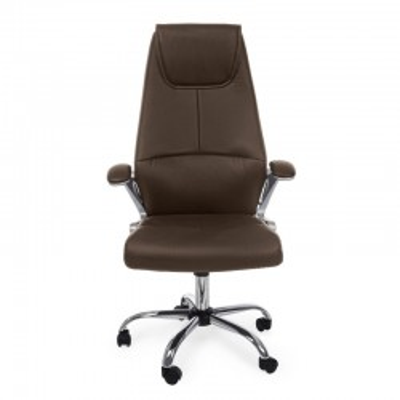 Poltrona ufficio Camberra in similpelle, colore marrone