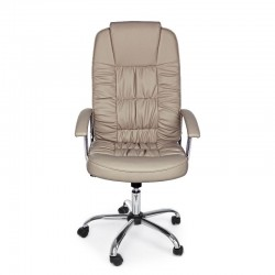 Dehli office armchair with imitation leather armrests, dove gray color