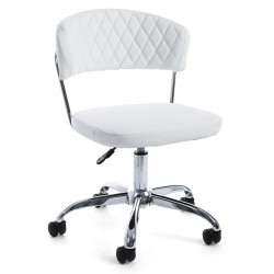 Nausica Pu office armchair in imitation leather, white color