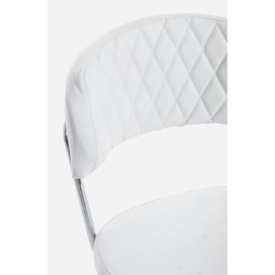 Fauteuil de bureau Nausica Pu en simili cuir, coloris blanc