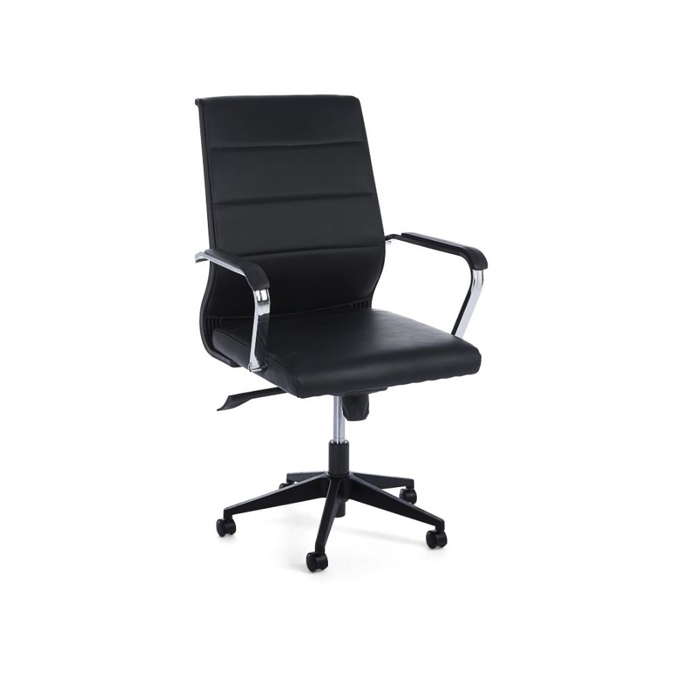 Brent office armchair with leatherette