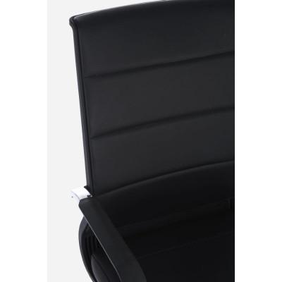 Fauteuil de bureau Brent avec accoudoirs en simili cuir, coloris noir, x 2 pcs