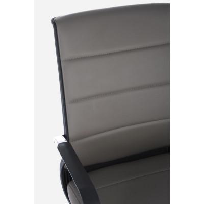 Fauteuil de bureau Brent avec accoudoirs en simili cuir, coloris gris boue, x 2 pcs