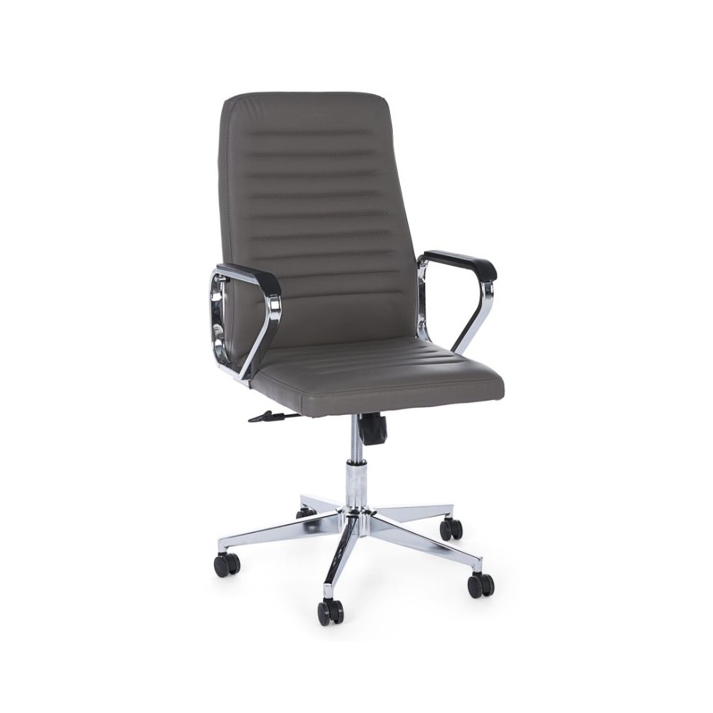 Derek office armchair with leatherette
