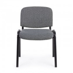 Conference chair in polyester fabric, gray color, x 10 pcs