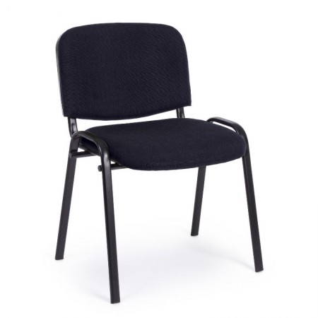 Conference chair in polyester fabric, black color, x 10 pcs