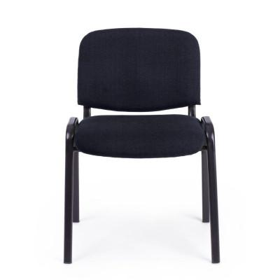 Chaise de conférence en tissu polyester, coloris noir, x 10 pcs