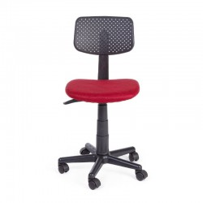 Chaise de bureau Artemis en tissu maille polyester, couleur rouge