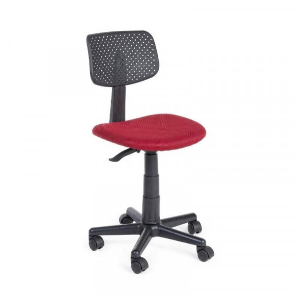 Sedia ufficio Artemis in tessuto a rete poliestere, colore rosso