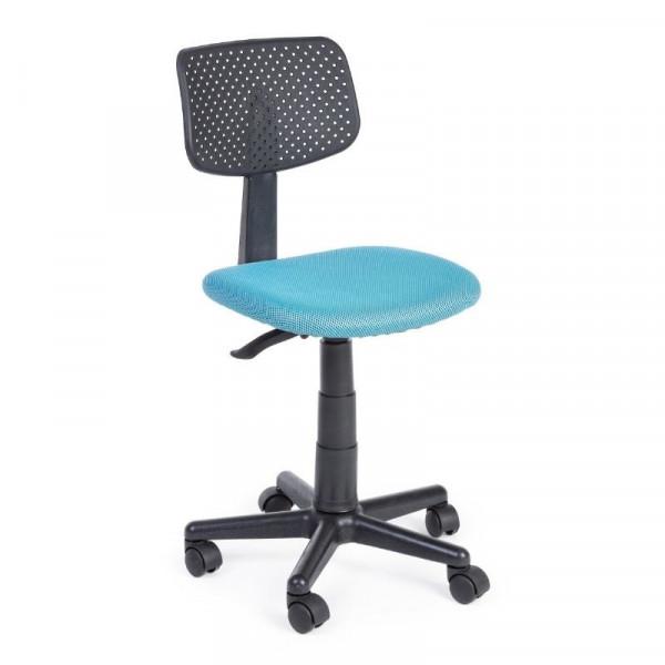 Sedia ufficio Artemis in tessuto a rete poliestere, colore azzurro