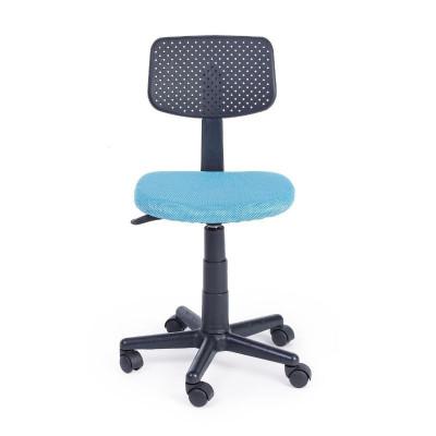 Chaise de bureau Artemis en tissu maille polyester, couleur bleu clair