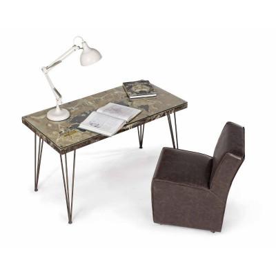 Atlantide desk 130X65, glass and MDF