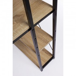 Elettra desk with open compartments, steel structure