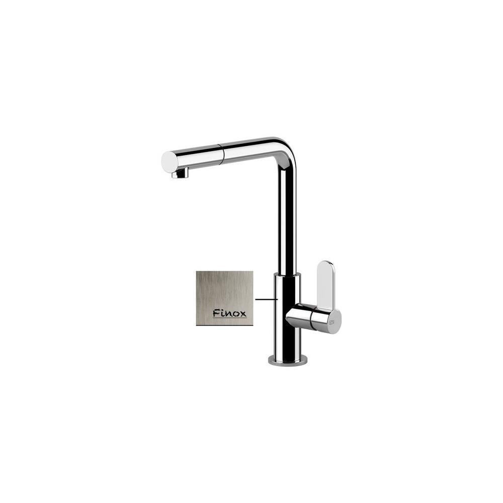 Sink mixer Gessi Helium satin stainless