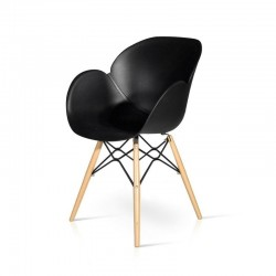 Philips chair in polypropylene with wooden and metal frame, x 4 pcs