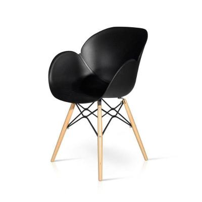 Sedia Philips in polipropilene con struttura in legno e metallo, x 4 pz
