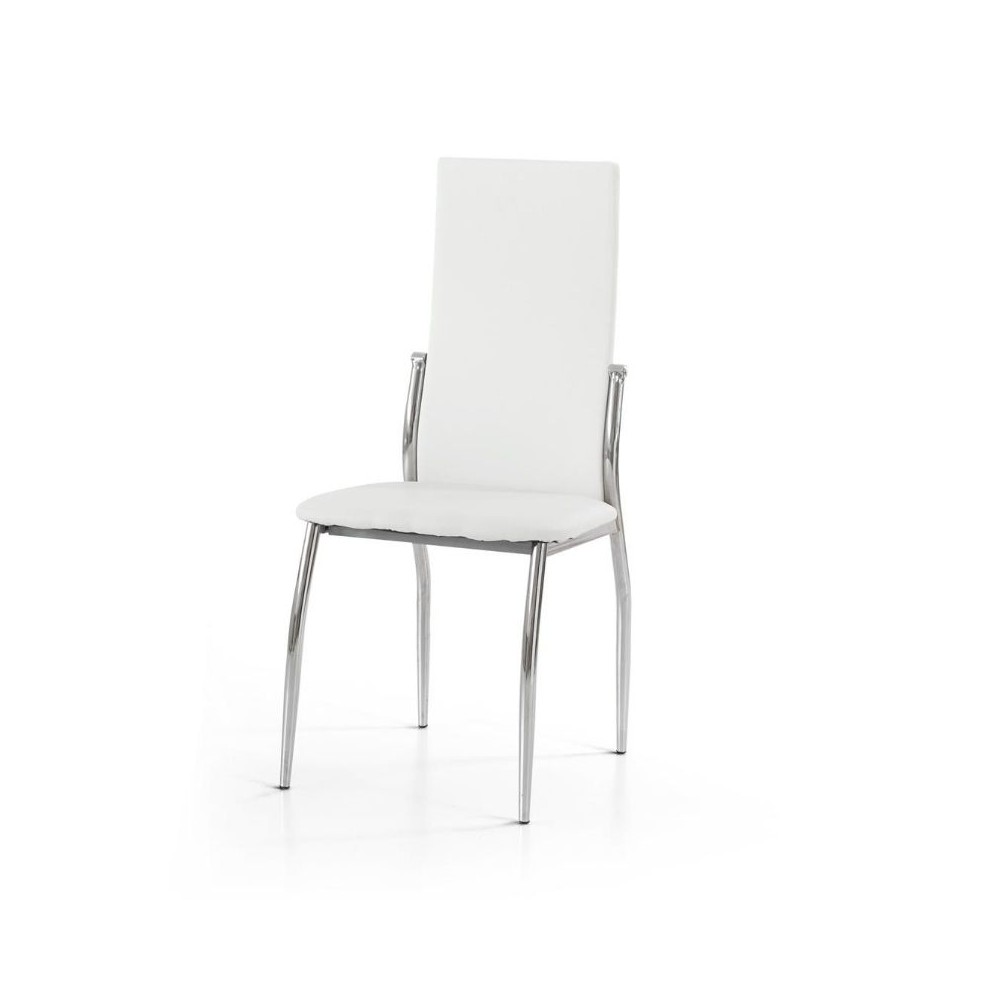 Soledad chair in eco-leather, chromed