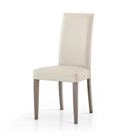 Upholstered Gustavo chair, in eco-leather, structure and legs in beech, chair x 2 pcs.