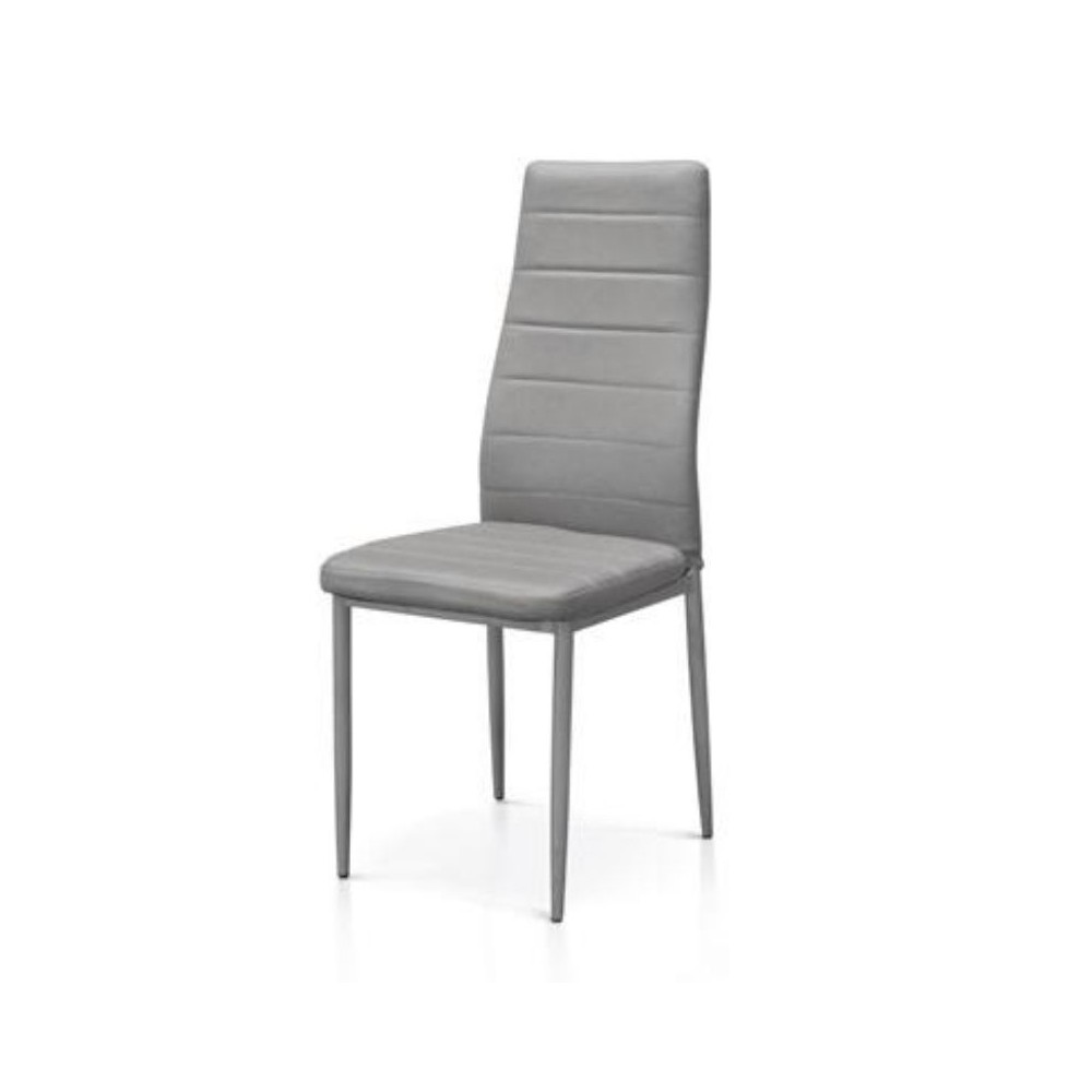 Alma upholstered chair in eco-leather,