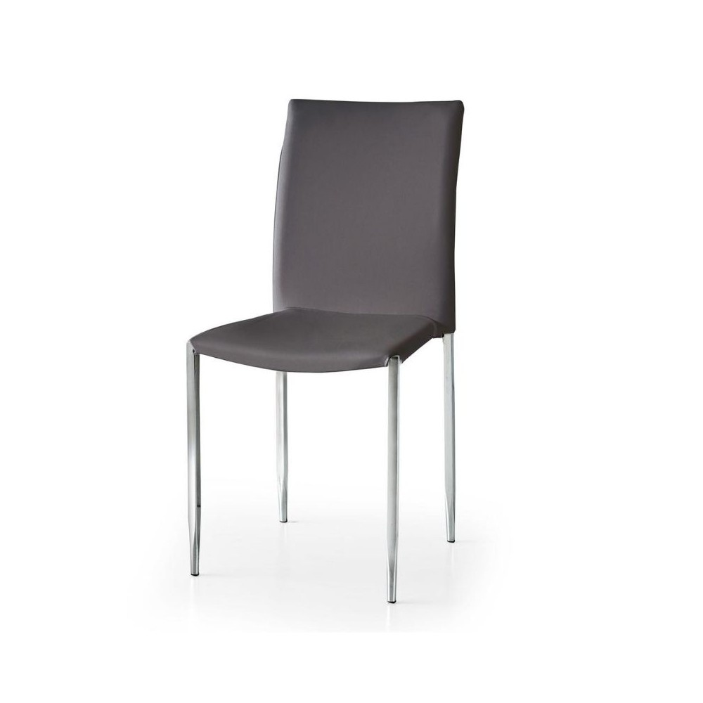 Briana chair in eco-leather, with legs