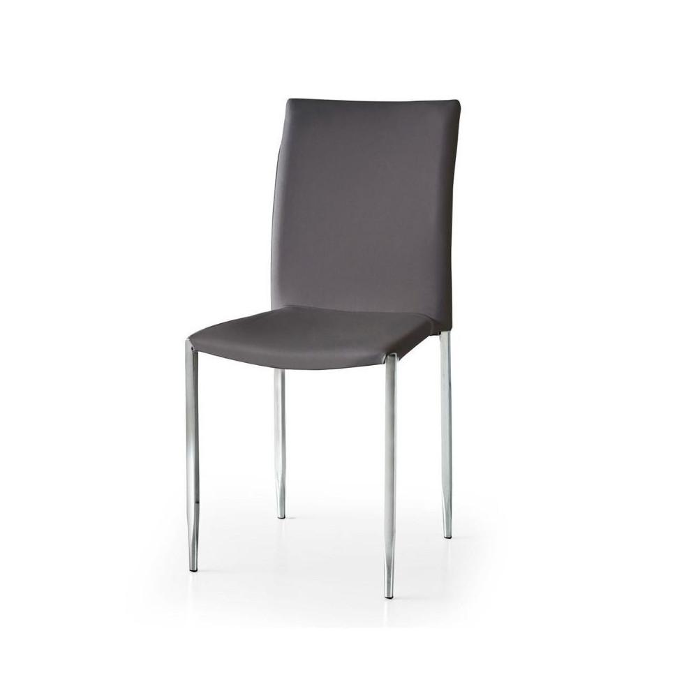 Chaise Briana en éco-cuir, avec pieds en