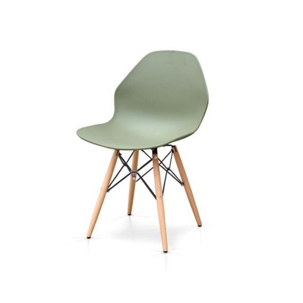 Chloe chair with polypropylene seat,