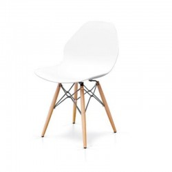 Chloe chair with polypropylene seat, wood structure, x 6 pcs