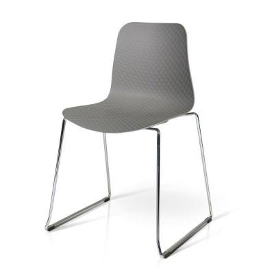 Chaise Daisy en polypropylène, structure métal, x 4 pcs