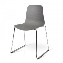 Daisy chair in polypropylene, metal structure, x 4 pcs