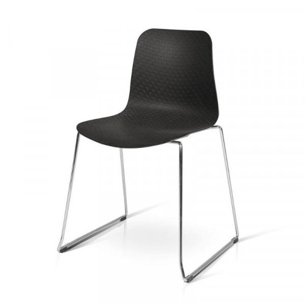 Sedia Daisy in polipropilene, struttura metallo, x 4 pz
