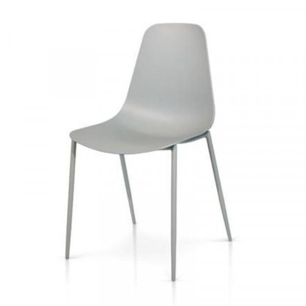 Desire chair in polypropylene, metal frame, x 4 pcs