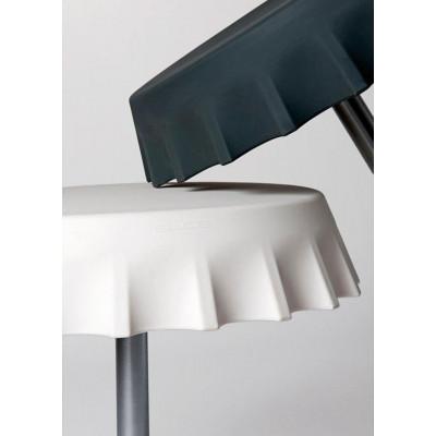 Table ronde FIZZZ (H110) en polyéthylène avec tige en métal, design Gianni Arnaudo